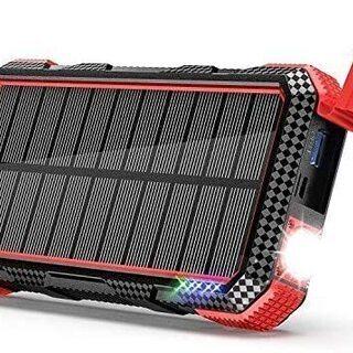 ☆ソーラーモバイルバッテリー 26800mAh 大容量 ソーラー...
