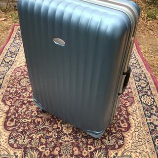 中古 スーツケース 水色