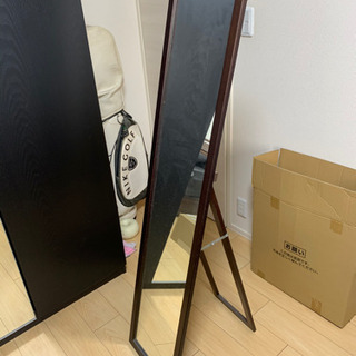 姿見 鏡 ミラー 全身 約150cm x33cm