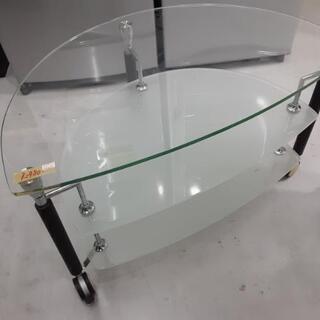 ガラスローテーブル 80cm x 50cm x 47cm お持ち...