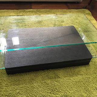 【定価¥69,800-】美品★ガラスローテーブル センターテーブル