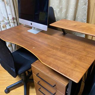 作業台 テーブル 学習机 パソコンデスク チェア付き