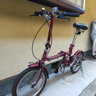 ジャガー折りたたみ自転車16インチワインレッド