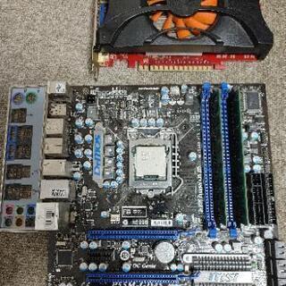 PCパーツ CPU core i7-870 マザボP55M GT...