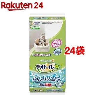 デオトイレ ふんわり香る消臭・抗菌シート 10枚入 24袋セット