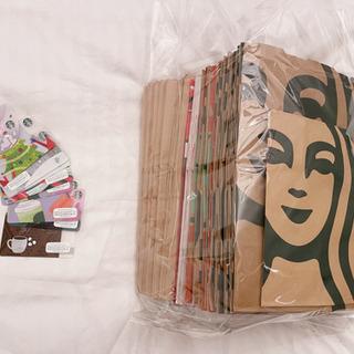 スターバックス コーヒー 紙袋35枚以上 + 使用済ギフトカード