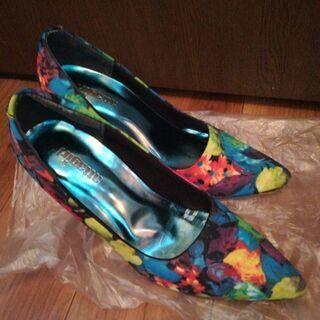 パンプス 青 緑 Mサイズ アタガール - 靴/バッグ