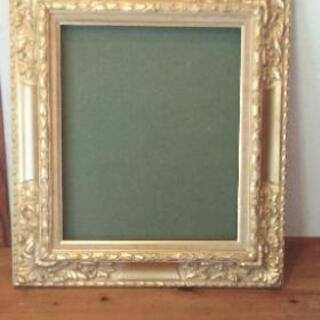油彩額  F8 ゴールド  の画像