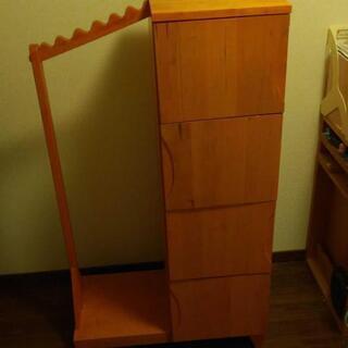 ウッディプッディ ワードローブ 子供 収納 木製
