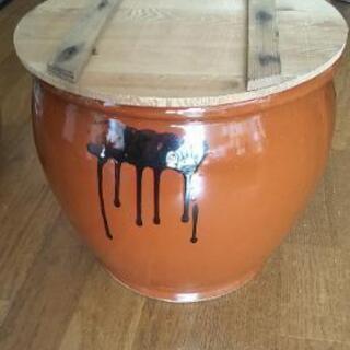 【ネット決済】蓋つき甕(かめ) 梅干し、味噌作り