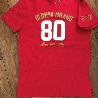 【未使用】 バスケットボール オリンピア・ミラノのTシャツ(エン...