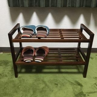 木製の棚(木製スタック式シューズラック)