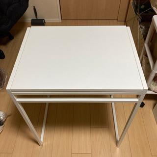 【中古】IKEA ドロップリーフテーブル ホワイト