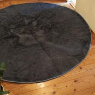 値下げ 円形ラグ カーペット グレー  直径188cm