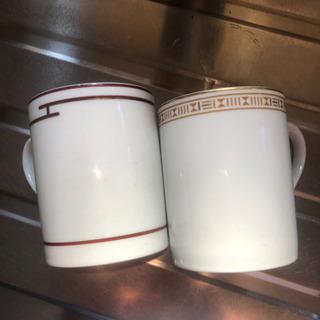 エルメスのカップ2つ