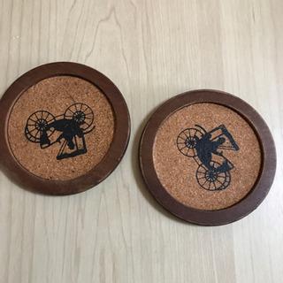 木のコースター2個セット