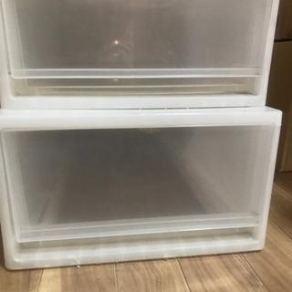 無料 プラスチック ケース 収納 服  1段