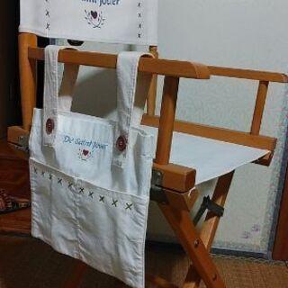 カントリー調 バッグ付きスケッチ用折畳み椅子