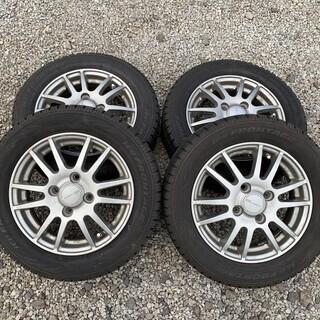 155/65R13 スタッドレスタイヤ+アルミホイール 4本セット