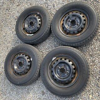 サマータイヤ+ホイールセット 145R12 ジャンクグッドイヤー...