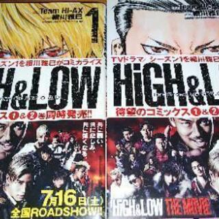 HiGH & LOW コミック1・2巻の画像