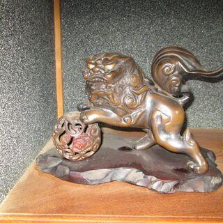 【値引きします!】【置物】金属製の狛犬
