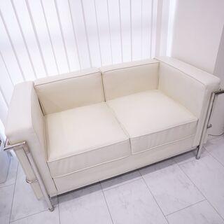 ル・コルビジェ LC2 リプロダクト品 ソファー ホワイト
