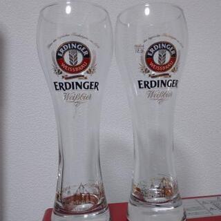 (未使用)ERDINGERのビールグラス2つ