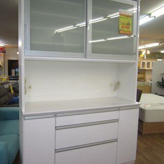 R083 高級 松田家具 キッチンボード、食器棚、幅140…