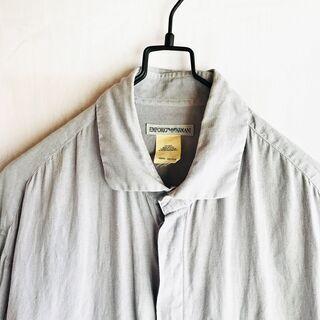 古着 EMPORIO ARMANI リネンシャツ イタリア製