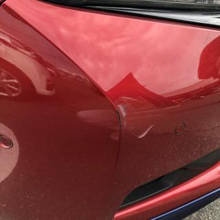 バンパー、日産リーフZE1のフロントバンパー赤、傷有り。