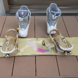 スノーボード&ブーツセット(レディース)の画像