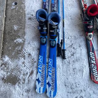 子供スキー3点セットブルー120 小学校低学年の画像