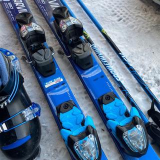 子供スキー3点セットブルー120 小学校低学年 - その他