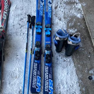 子供スキー3点セットブルー120 小学校低学年 − 北海道