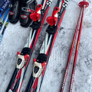子供スキー3点セットレッド110小学校低学年 − 北海道