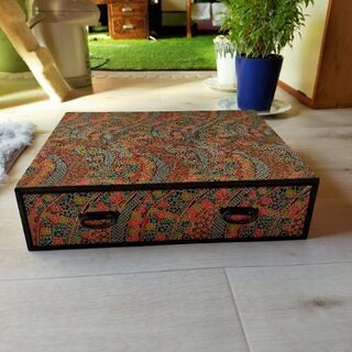 木箱小物入れ レトロ 千代紙