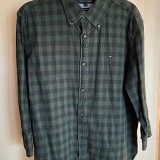 Tommy Hilfiger チェックシャツ 深緑 L