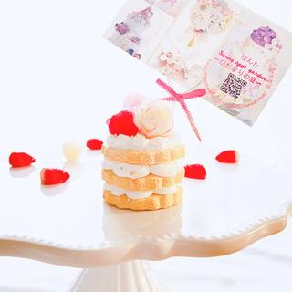 初心者様大歓迎!『薔薇のネイキッドケーキのメモスタンド』