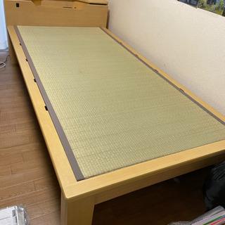 【ネット決済】22日(金)午前引取!シングルベッド 畳 簀子 分解可能