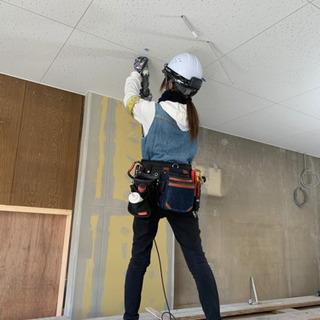 女性も歓迎!★内装工★ 天井 壁の下地・ボード貼り