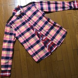 【美品】TOMMY チェックシャツ sizeL コーデュロイ トミー