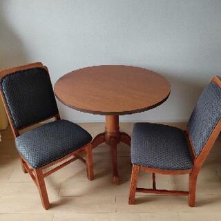 アメリカ家具 ダイニングテーブル+イス2脚