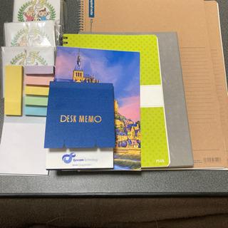 新品ノート、メモ帳、付箋