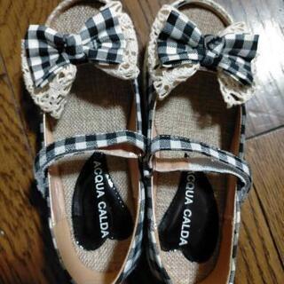 女の子 サンダル 19センチ 新品 靴 シューズ