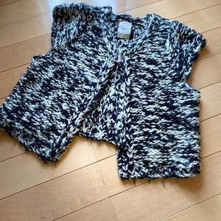 手編み風毛糸ベスト