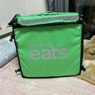 Uber eats  緑カバン