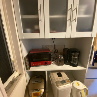 【1/15.16.17引き取り限定】大容量家電収納棚 食器…