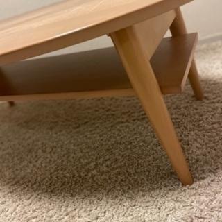 折り畳み可能 ローテーブル 楕円形