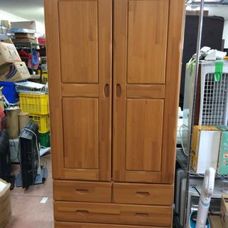 【お値下げ!美品】開戸+引き出し三段✨木製クローゼット 🌈…